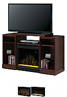 "50.75"" Dimplex Dylan Espresso Media Console Fireplace"