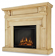 "46"" Harvey White Electric Fireplace"