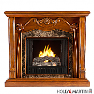 "45.25"" Cardona Gel Fuel Fireplace - Walnut"