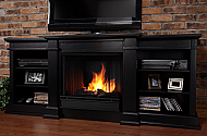 "72"" Fresno?Indoor Black Gel Media Fireplace"