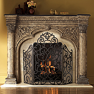 Fireplace Mantels, Surrounds & Shelves | PortableFireplace.com
