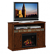 52'' Sedonia Caramel Oak Entertainment Center Electric Fireplace - 23MM0925-O125