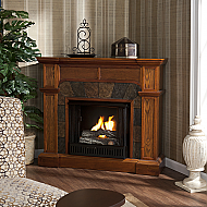 45.5'' Holly & Martin Cypress Gel Fireplace-Mission Oak