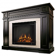 "46.5"" Ratherford Dark Walnut Electric Entertainment Center Fireplace"