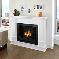 "48"" Silverton White Indoor Gel Fireplace"