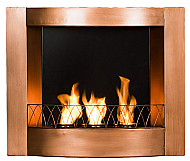 "27.25"" Holly & Martin Hallston Wall Mount Fireplace-Copper"