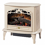 "29.6"" Dimplex Celeste Cream Stove Electric Fireplace"