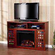 "48"" Narita Media Mahogany Electric Fireplace"