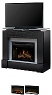 "48"" Dimplex Jasper Black Media Console Fireplace"