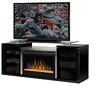 "75.5"" Dimplex Marana Black Glass Entertainment Center Fireplace - SGFP-500-B"