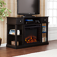 "47.75"" Dayton Black Media Fireplace - FE9395"