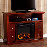 "47.75"" Creston Cherry Media Fireplace - FE9398"
