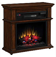 32'' Bennington Premium Walnut Infrared Electric Fireplace