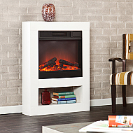 "30.5"" Holly & Martin Mofta White Electric Fireplace"