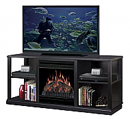 "60.5"" Dimplex Cornet Black Entertainment Center Fireplace"