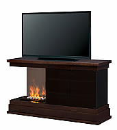 "60"" Dimplex Debenham OptiMyst Espresso with Rocks Entertainment Electric Fireplace"