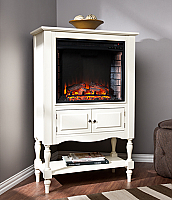 "32.25"" Providence Antique White Electric Fireplace Tower - FE9808"