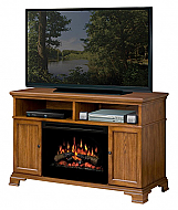 "52.75"" Dimplex Brookings Oak Entertainment Center Fireplace"
