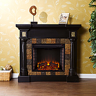"44.5"" Holly & Martin Weatherford Convertible Electric Fireplace-Black"