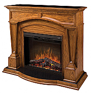 "61"" Dimplex Hampton Oak Purifire Electric Fireplace"