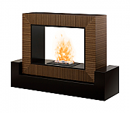 "56.5"" Dimplex Amsden Black and Cinnamon OptiMyst Electric Fireplace"