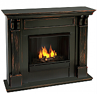 "48"" Ashley Antique Black Gel Fuel Fireplace"