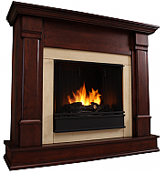"48"" Silverton Dark Mahogany Indoor Gel Fireplace"