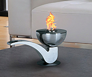 "11.8"" Pipe Modern Biofuel Tabletop Fireplace"