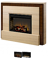 "64"" Dimplex Gibraltar Burnished Walnut Fireplace Package"