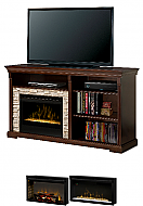 "65"" Dimplex Edgewood Espresso Media Console Fireplace"