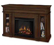 "50.75"" Lannon Dark Walnut Electric Fireplace"