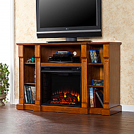 "52"" Kendall Electric Media Fireplace - Glazed Pine"