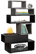 "61.75"" Dimplex Mimico Bookcase Fireplace Package"