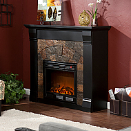 "45.5"" Holly & Martin Underwood Electric Fireplace-Black"
