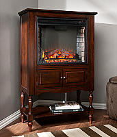 "32.25"" Providence Mahogany Fireplace Tower - FE9807"
