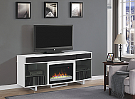 "72"" Enterprise High Gloss White Entertainment Center Electric Fireplace - 26MMS9616-NW145"