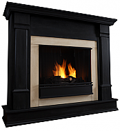 "48"" Silverton Black Indoor Gel Fireplace"