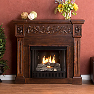 "44.5"" Holly & Martin Huntington Gel Fireplace-Espresso"