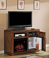 "50.75"" Party Time Oak Electric Fireplace Media Console - 23TF2587-O114"