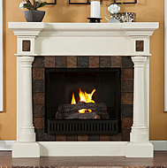 "44.5"" Holly & Martin Weatherford Convertible Gel Fireplace-White"