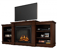 "74.7"" Hawthorne Dark Espresso Entertainment Center Electric Fireplace"