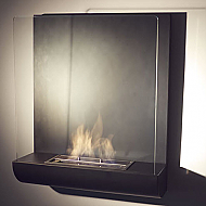 "23.62"" Vampa Wall Mounted Ethanol Bio-Fireplace"