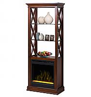 """29"""" Seabert Bookshelf Tower, With Firebox  Glass Ember Bed-GDS20G-1370WN"""