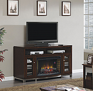 "66"" Wesleyan Deluxe Meridian Cherry Media Mantel Electric Fireplace - 32MM6439M-C247"