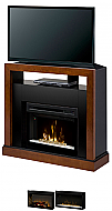 "45"" Dimplex Tanner Walnut Convertible Media Console Fireplace GDS25-5309WN - GDS25HL-5309WN"