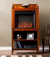 "30.5"" Moreno Mission Oak Fireplace Tower - FE9825"