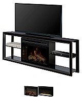 "64"" Dimplex Novara Black Media Console Fireplace"
