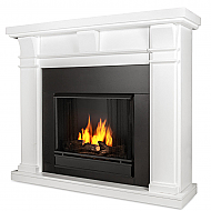 "49.9"" Porter White Slim Gel Fireplace"