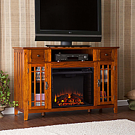 "52"" Salinas Electric Media Fireplace - Mission Oak"