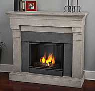 "50.6"" Torrence Cast Cinderstone Gel Fireplace"